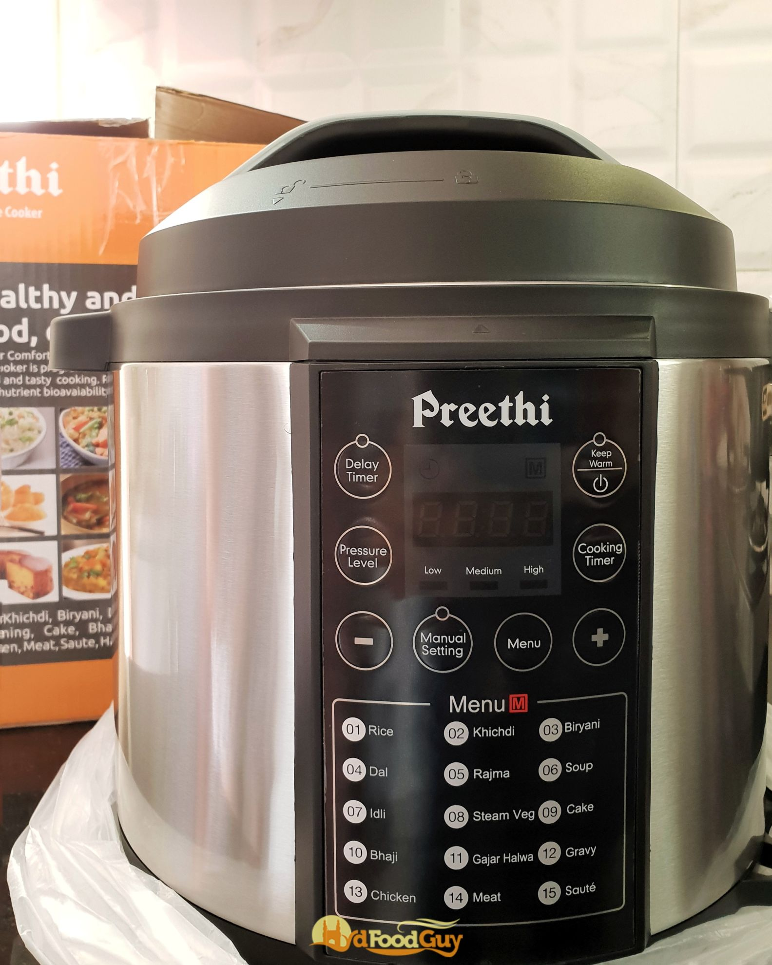 Preethi Touch Electric Pressure Cooker Review Hyderabad Food Guy