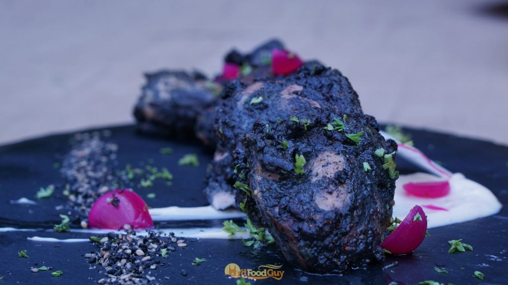 Black Sesame Chicken Tikka - Farzi Cafe